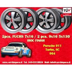 4 pcs. Porsche 911 Fuchs 2 pcs. 7x17 ET23.3 + 2 pcs. 9x17 ET15 PCD 5x130 IROC style wheels