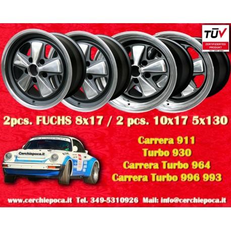 4 pcs. Porsche 911 Fuchs 2 pcs. 8x17 ET10.6 + 2 pcs. 10x17 ET-27 PCD 5x130 RSR Style wheels