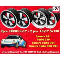 4 pcs. Porsche 911 Fuchs 2 pcs. 8x17 ET10.6 + 2 pcs. 10x17 ET-27 PCD 5x130 IROC Style