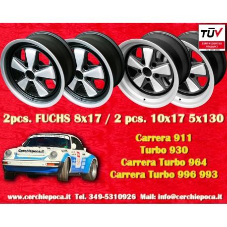 4 pcs. Porsche 911 Fuchs 2 pcs. 8x17 ET10.6 + 2 pcs. 10x17 ET-27 PCD 5x130 IROC Style (eloxierte)