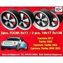 4 pcs. Porsche 911 Fuchs 2 pcs. 8x17 ET10.6 + 2 pcs. 10x17 ET-27 PCD 5x130 IROC Style wheels