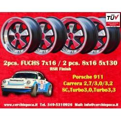 4 pcs. Porsche 911 Fuchs 2 pcs. 7x17 ET23.3 + 2 pcs. 8x17 ET10.6 PCD 5x130 RSR Style