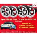 4 pcs. Porsche 911 Fuchs 2 pcs. 7x17 ET23.3 + 2 pcs. 8x17 ET10.6 PCD 5x130 IROC Style wheels