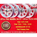 2 Pcs. 6x13 ET13 + 2 Pcs. 7x13 ET5 4x98 Fiat/Autobianchi/Lancia Minilite