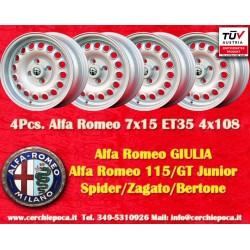 4 pcs. Alfa Romeo GT GTA 7x15 ET35 4x108 wheels