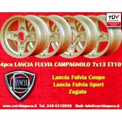 4 pcs. cerchi Lancia Fulvia Campagnolo style  7x13 ET10 4x130 (Stellone)