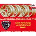 4 pz. llantas Lancia Fulvia Campagnolo style  7x13 ET10 4x130