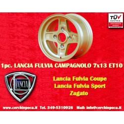 1 pc. cerchio Lancia Fulvia Campagnolo style  7x13 ET10 4x130