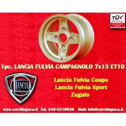 1 Stk. Felge Lancia Fulvia Campagnolo style  7x13 ET10 4x130
