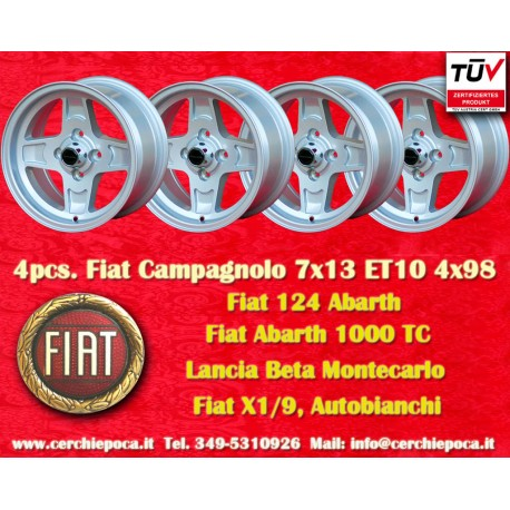 4 Stk. Felges Fiat Campagnolo style  7x13 ET10 4x98