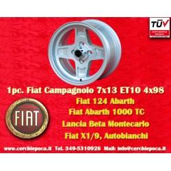 1 pc. Fiat Campagnolo style  7x13 ET10 4x98 wheel