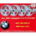 4 pcs. BMW Campagnolo style 7x13 ET+5 4x100 wheels