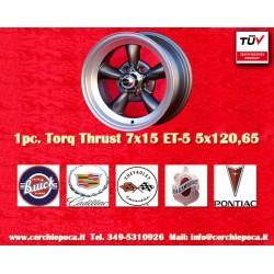 4 pcs. cerchi Torq Thrust style 7x15 ET-5 5x120.65 anthracite