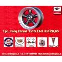 1 Stk. Felge Torq Thrust style 7x15 ET-5 5x114.3 Anthrazit