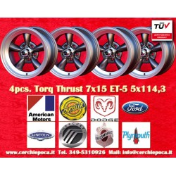 4 pcs. cerchi Torq Thrust style 7x15 ET-5 5x114.3