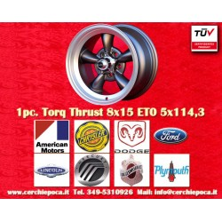 1 pc.  Torq Thrust style 8x15 ET0 5x114.3 wheel