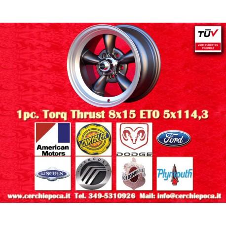 1 pc.  Torq Thrust style 8x15 ET0 5x114.3 wheel