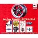 1 Stk. Felge Torq Thrust style 8x15 ET0 5x114.3 Anthrazit/poliert