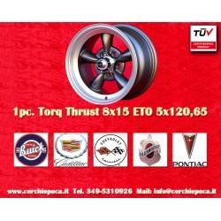 1 Stk. Felge Torq Thrust style 8x15 ET0 5x120.6 anthrazit/poliert