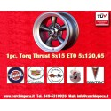 1 pc.  llanta Torq Thrust style 8x15 ET0 5x120.6 anthracite finish