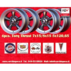 4 pcs. cerchi Torq Thrust style 2 pcs. 7x15 ET-5 + 2 pcs. 8x15 ET0 5x120.65