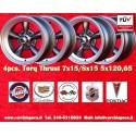 4 Stk. Felgen Torq Thrust style 2 pcs. 7x15 ET-5 + 2 pcs. 8x15 ET0  5x120.65 Anthrazit/poliert