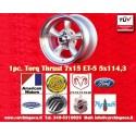 1 pc.  Torq Thrust style 7x15 ET-5 5x114.3 wheel