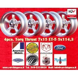 4 pcs.  Torq Thrust style 7x15 ET-5 5x114.3 wheels