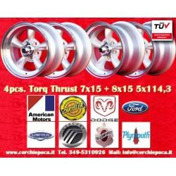 4 pcs. cerchi Torq Thrust style 2 pcs. 7x15 ET-5 + 2 pcs. 8x15 ET0 5x114.3