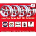 4 pcs.  Torq Thrust style 7x15 ET-5 5x120.65 wheels