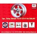1 pc.  Torq Thrust style 7x15 ET-5 5x120.6 wheel