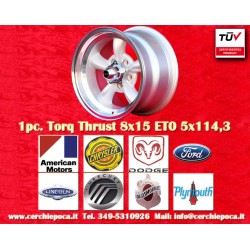 1 pc.  Torq Thrust style 8x15 ET0 5x120.6 wheel