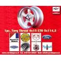 1 Stk. Felge Torq Thrust style 8x15 ET0 5x120.6