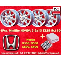 4 pcs. Honda 5.5x13 ET25 5x130 wheels