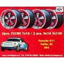 4 pcs. Porsche 911 Fuchs 2 pcs. 7x16 ET23.3 + 2 pcs. 9x16 ET15 PCD 5x130 RSR polished wheels