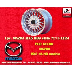 1 pc. Mazda MX5 NB/NA BBS Style 7x15 ET24 4x100 wheel