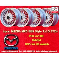 1 pc. jante Mazda MX5 NB/NA BBS style 7x15 ET24 4x100