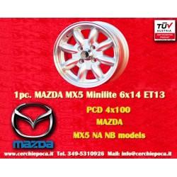 4 pcs. Mazda Minilite 6x14 ET13 4x100 wheels