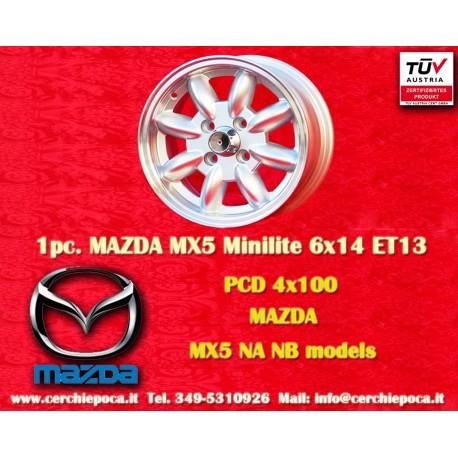 4 Stk. Felgen Mazda MX5 Minilite 6x14 ET13 4x100