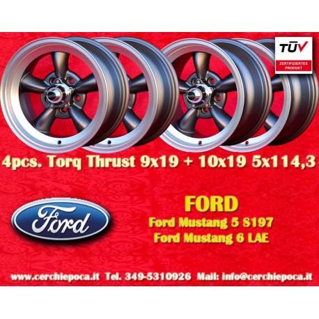 Ford Mustang Torq Thrust 9x19 ET35 + 10x19 ET42 5x114.3