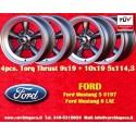 4 pcs.  Ford Mustang Torq Thrust style 2 pcs. 9x19 ET35 + 2 pcs. 10x19 ET42  5x114.3 wheels anthracite/finish