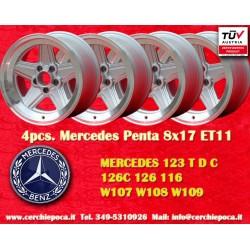 4 pcs. jantes Mercedes Benz Penta 8x17 ET11 5x112