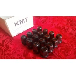 Bolts Set KM6 16 left  threaded black