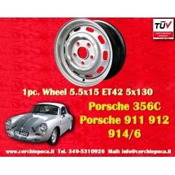 1 pc. Jante de fer Porsche 356C 911 912 914 5.5x15 ET42
