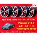 4 Wheels Porsche/Volkswagen 914 Fuchs 5.5x15 ET35 4x130