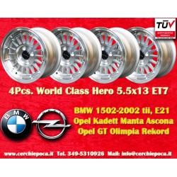 4 pz. llantas BMW Opel World Class Hero 5.5x13 ET7 4x100