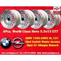 4 pcs. BMW Opel Working Class Hero 5.5x13 ET7 4x100 wheels