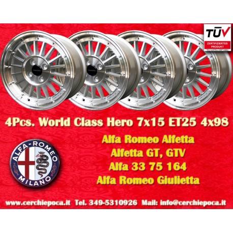 4 pz. Ruedas para Alfa Romeo 7x15 ET25 4x98 PCD 4x98 by Davide Cironi