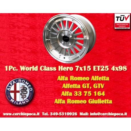 1 Stk. Felge für Alfa Romeo 7x15 ET25 Lk. 4x98 mit TÜV by Davide Cironi