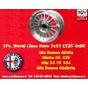1 Cerchio in Lega Leggera 7x15 ET25 4x98  style per Alfa Romeo